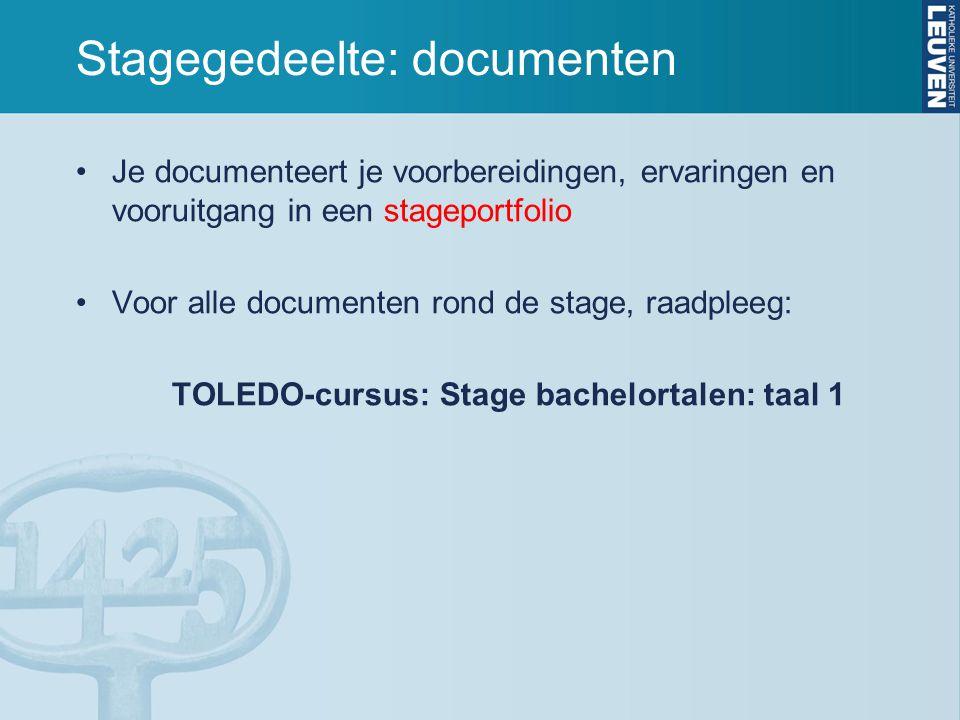 Stagegedeelte: documenten