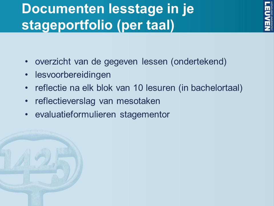 Documenten lesstage in je stageportfolio (per taal)