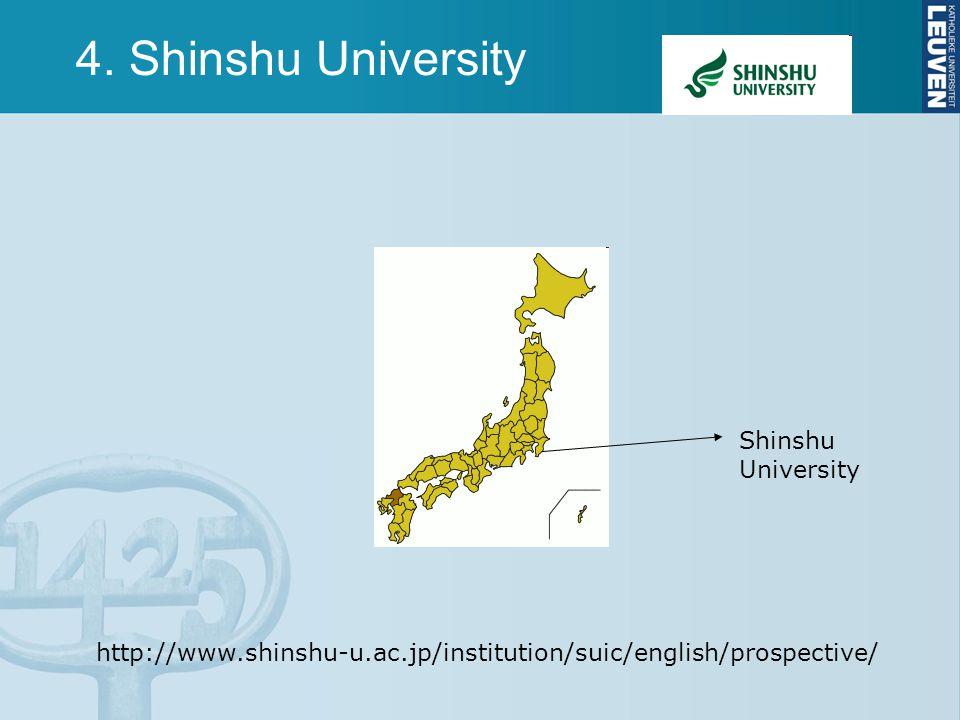 4. Shinshu University Shinshu University