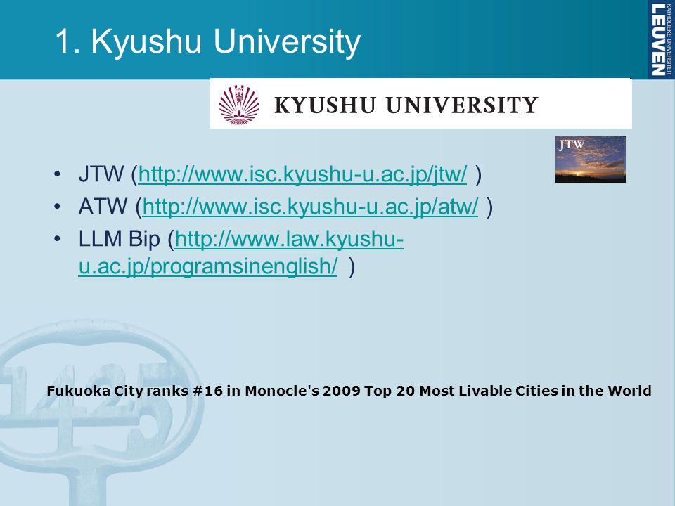 1. Kyushu University JTW (http://www.isc.kyushu-u.ac.jp/jtw/ )