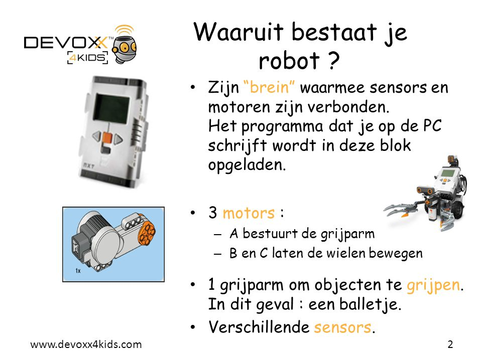 Waaruit bestaat je robot