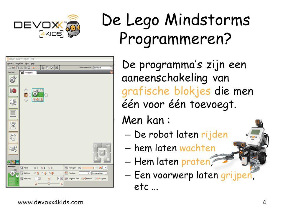 De Lego Mindstorms Programmeren