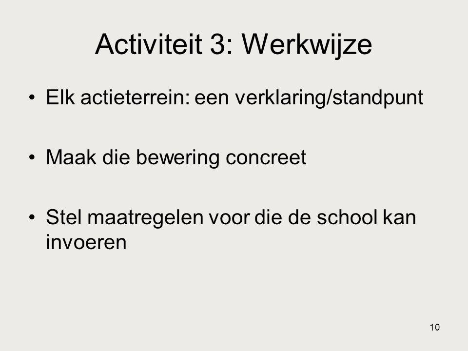 Activiteit 3: Werkwijze