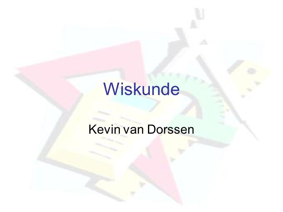 Wiskunde Kevin van Dorssen