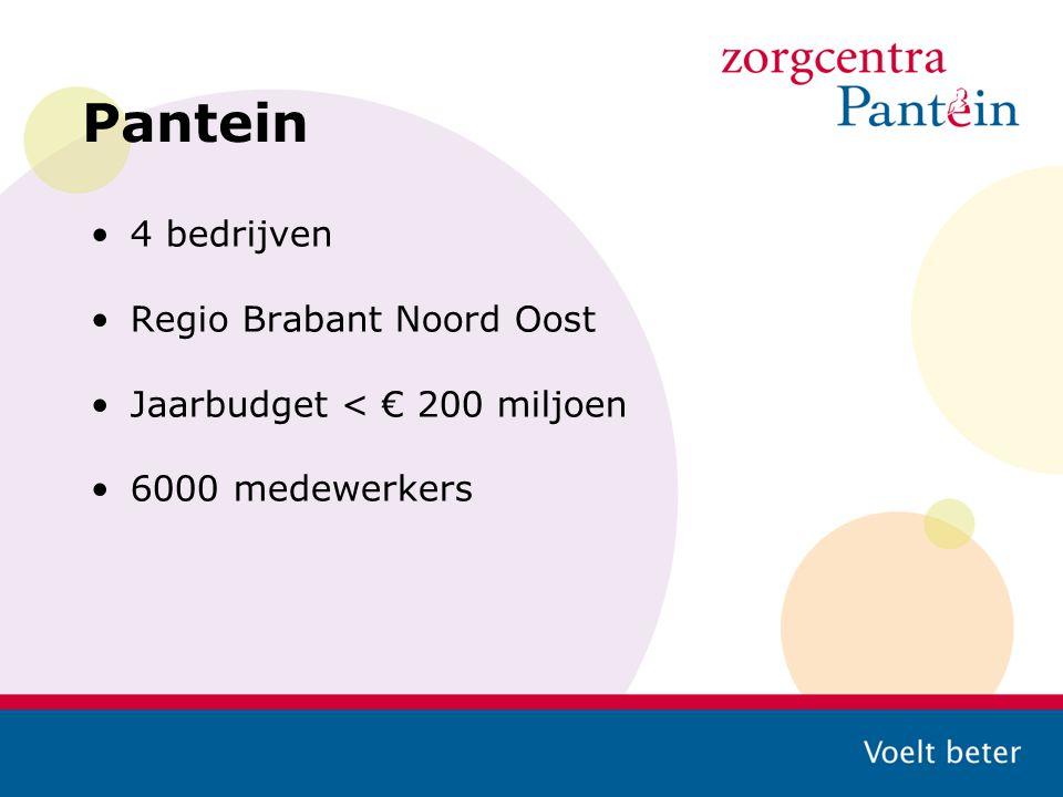 Pantein 4 bedrijven Regio Brabant Noord Oost