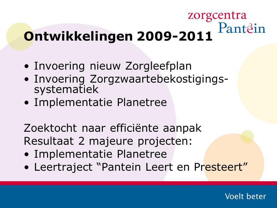 Ontwikkelingen 2009-2011 Invoering nieuw Zorgleefplan