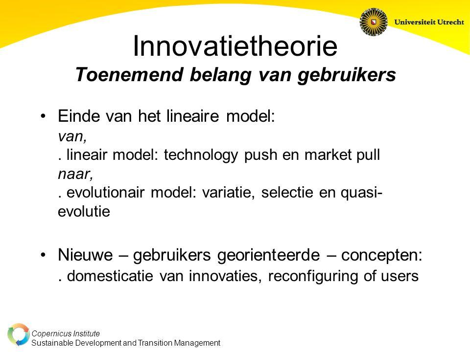 Innovatietheorie Toenemend belang van gebruikers