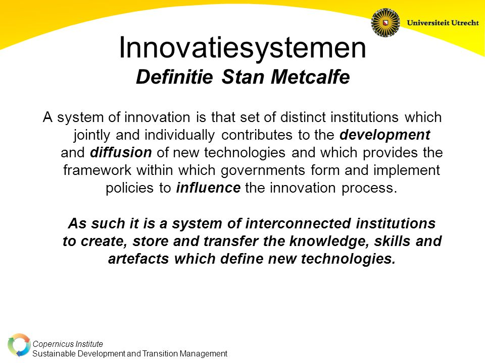 Innovatiesystemen Definitie Stan Metcalfe