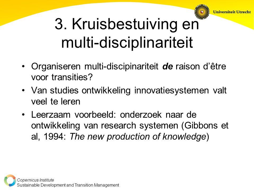 3. Kruisbestuiving en multi-disciplinariteit