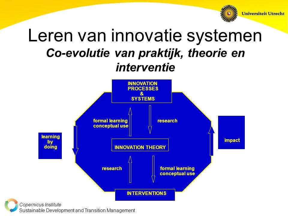 Leren van innovatie systemen Co-evolutie van praktijk, theorie en interventie