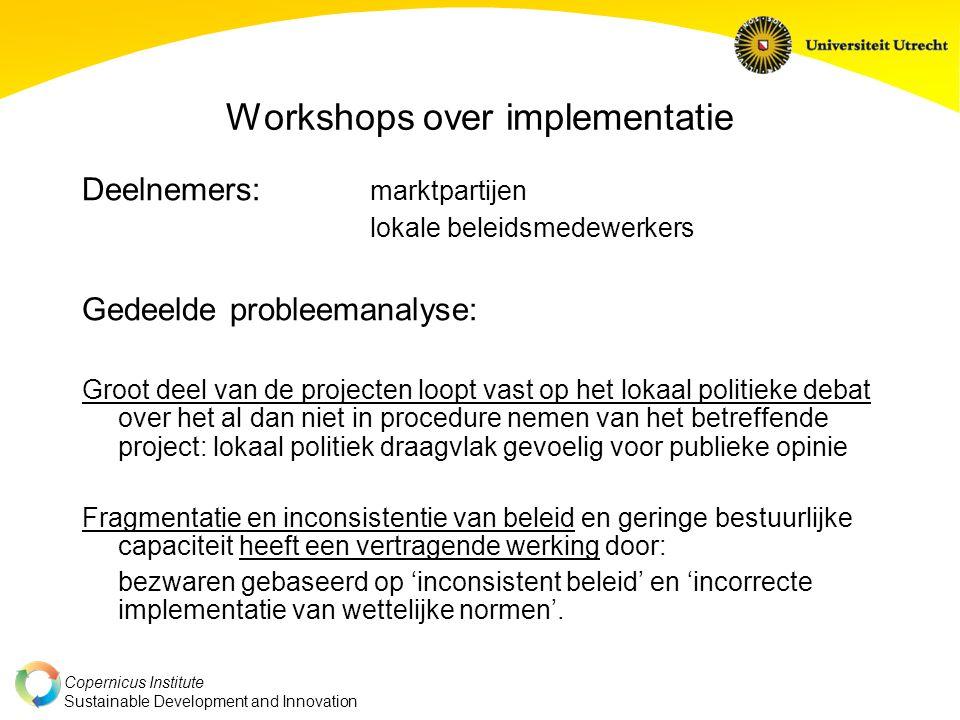 Workshops over implementatie