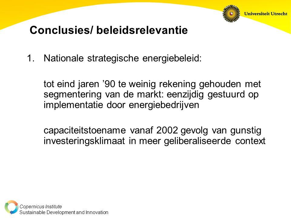 Conclusies/ beleidsrelevantie