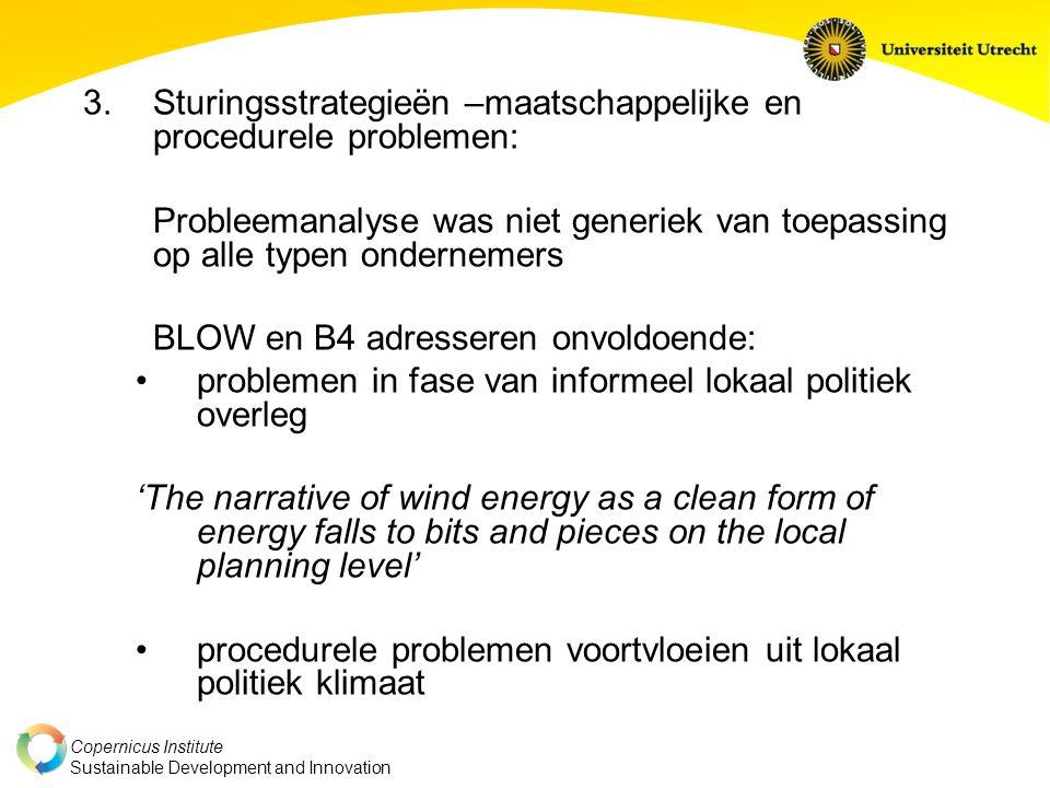 Sturingsstrategieën –maatschappelijke en procedurele problemen: