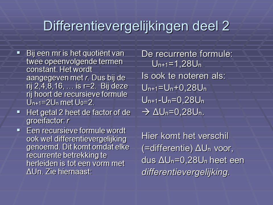 Differentievergelijkingen deel 2