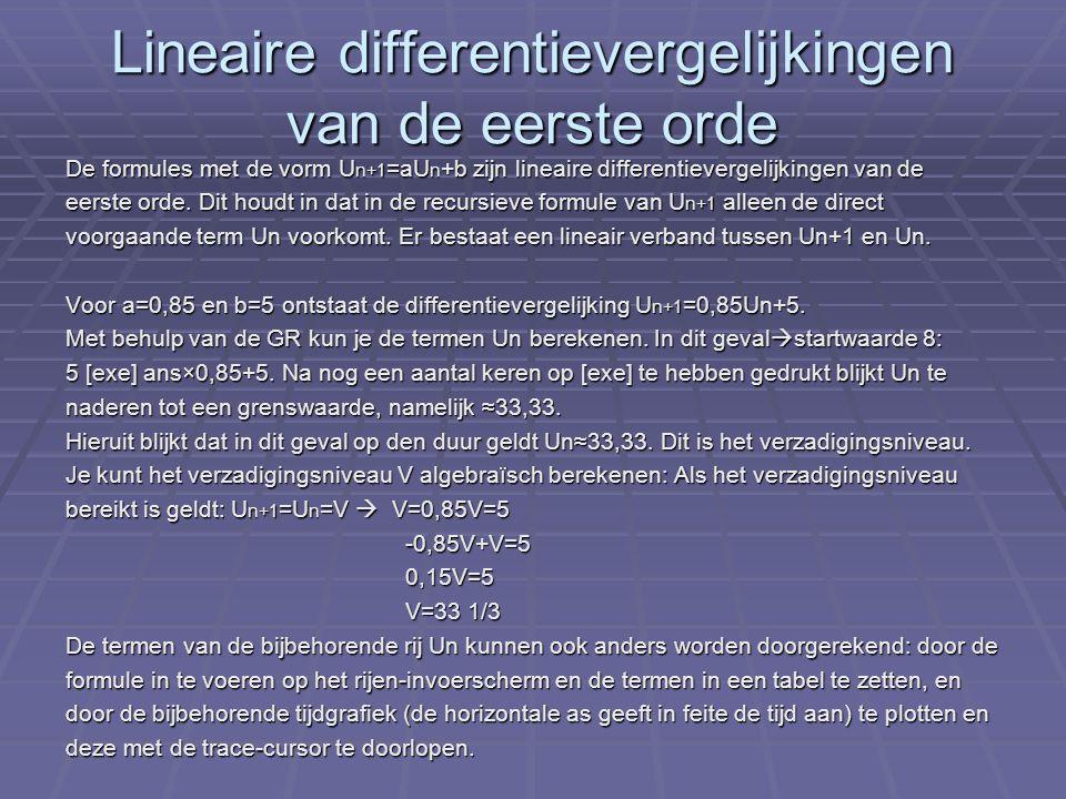Lineaire differentievergelijkingen van de eerste orde