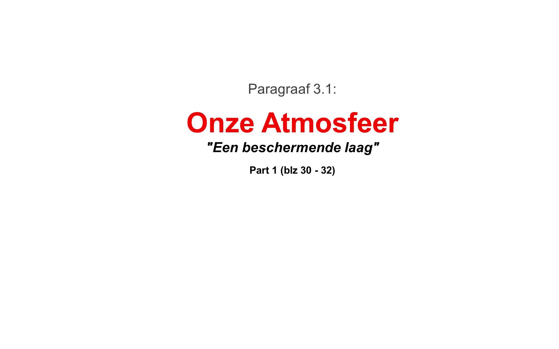 Onze Atmosfeer Paragraaf 3.1: Een beschermende laag