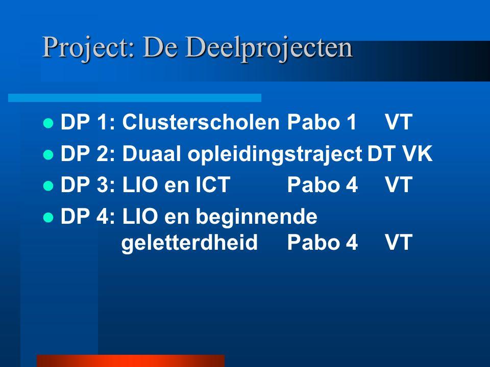 Project: De Deelprojecten