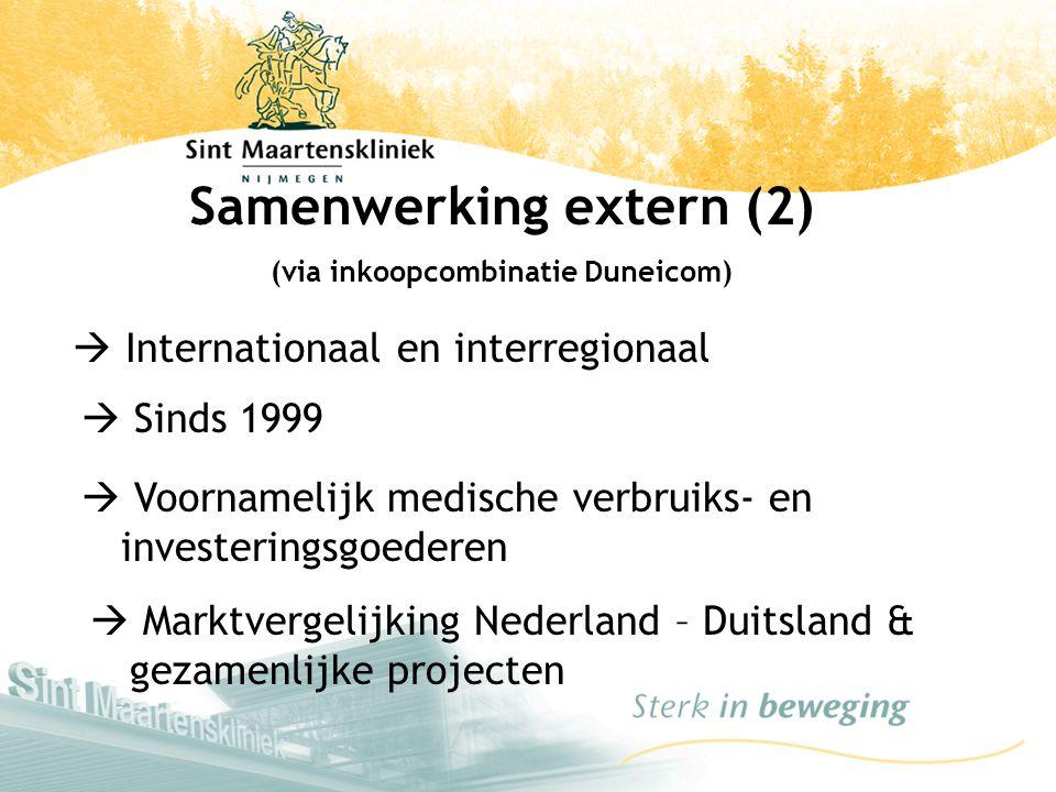 Samenwerking extern (2) (via inkoopcombinatie Duneicom)