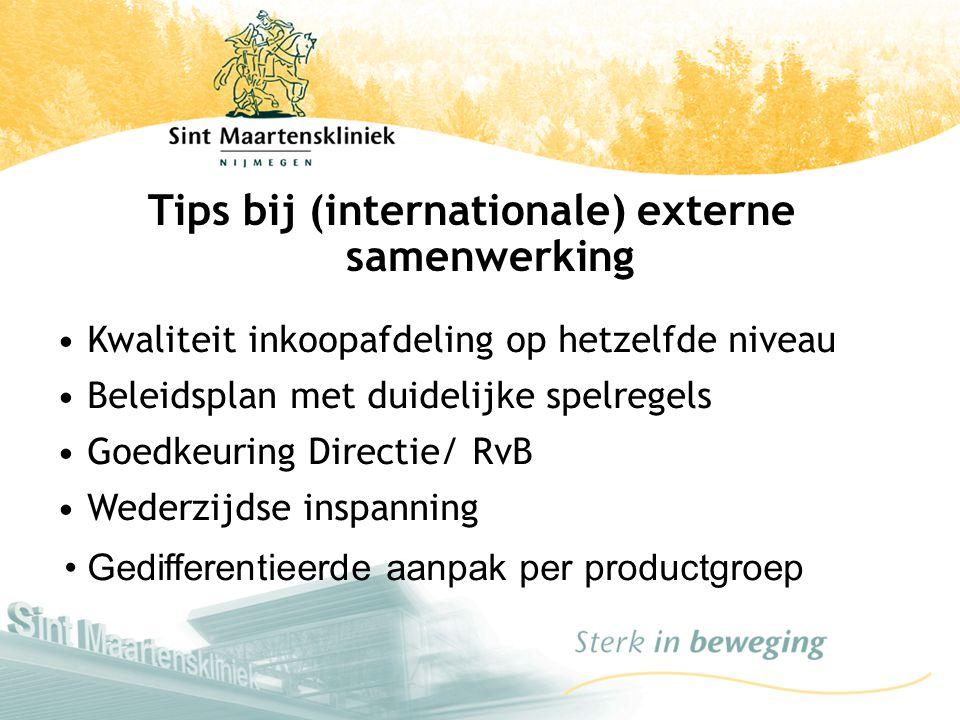Tips bij (internationale) externe samenwerking