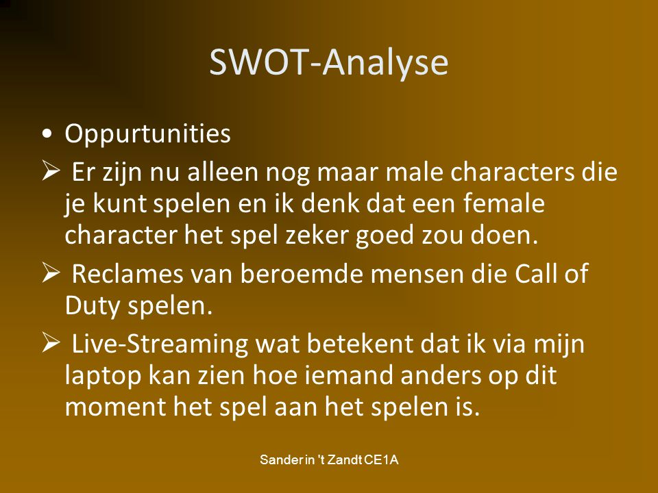 SWOT-Analyse Oppurtunities