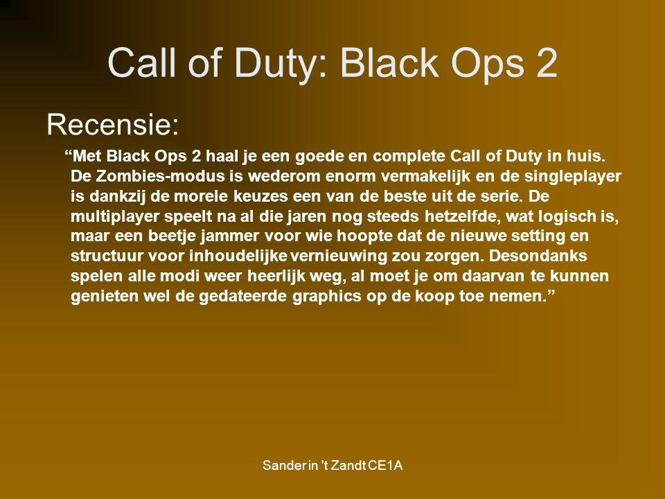 Call of Duty: Black Ops 2 Recensie: