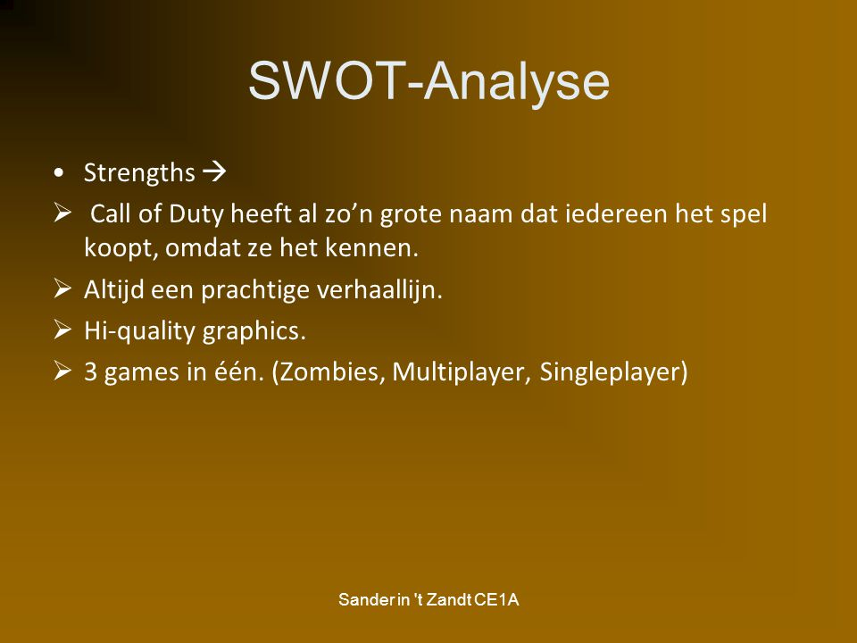 SWOT-Analyse Strengths 