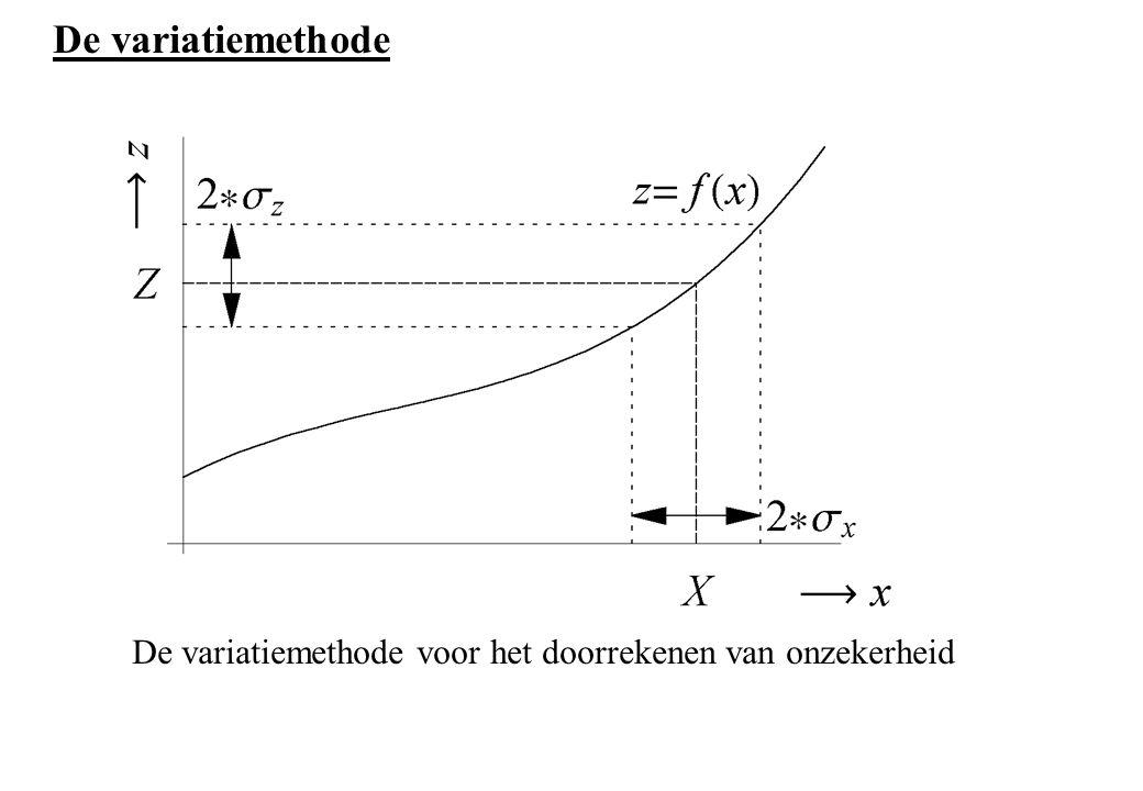 De variatiemethode De variatiemethode voor het doorrekenen van onzekerheid