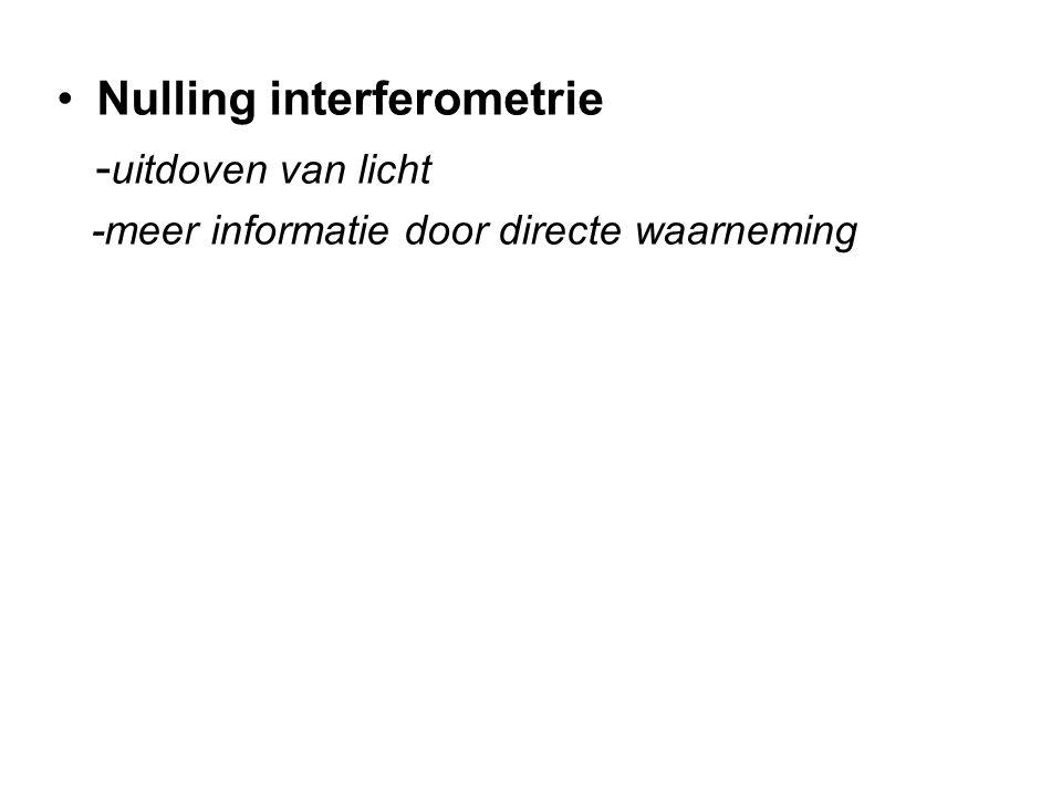 Nulling interferometrie -uitdoven van licht