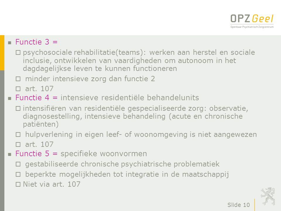 Functie 4 = intensieve residentiële behandelunits