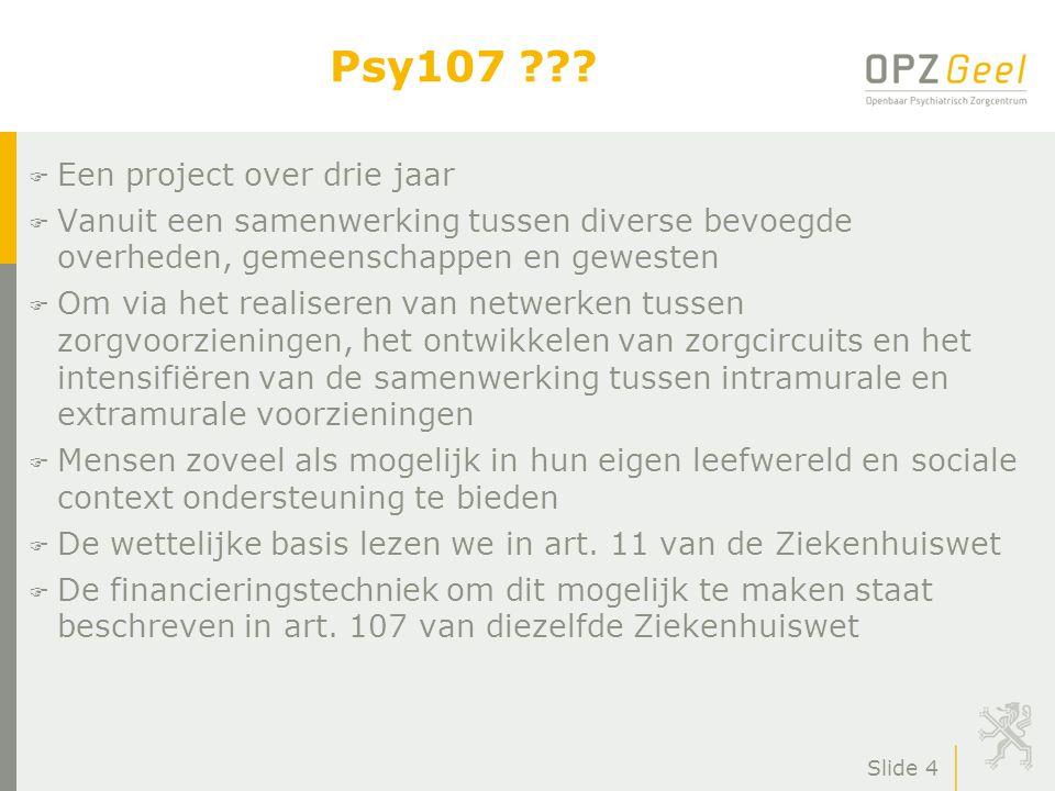 Psy107 Een project over drie jaar