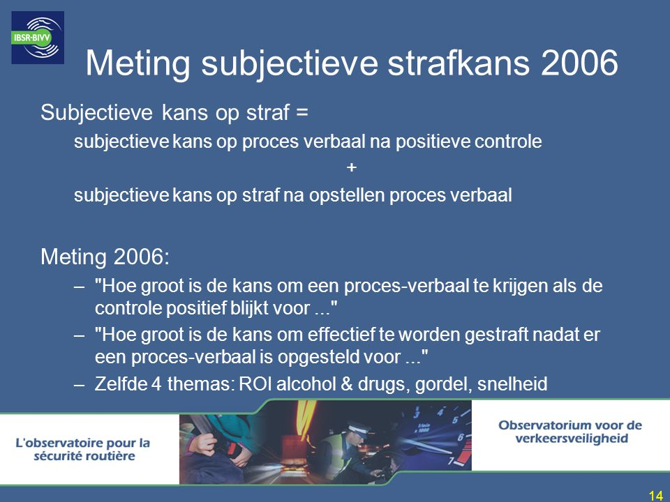 Meting subjectieve strafkans 2006