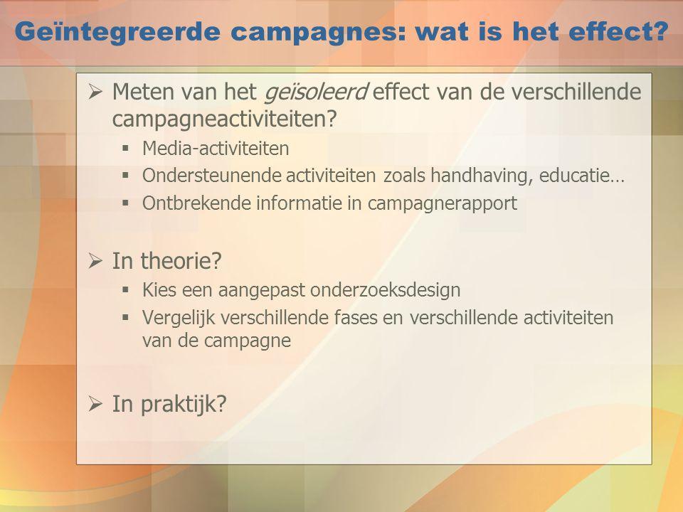 Geïntegreerde campagnes: wat is het effect