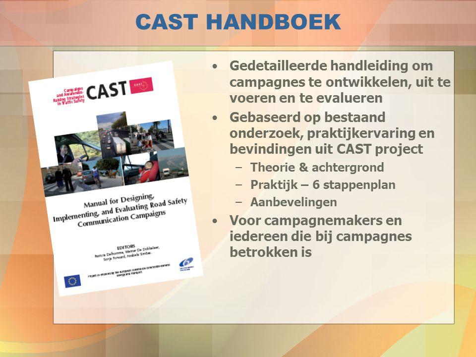 CAST HANDBOEK Gedetailleerde handleiding om campagnes te ontwikkelen, uit te voeren en te evalueren.