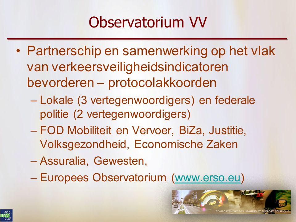 Observatorium VV Partnerschip en samenwerking op het vlak van verkeersveiligheidsindicatoren bevorderen – protocolakkoorden.