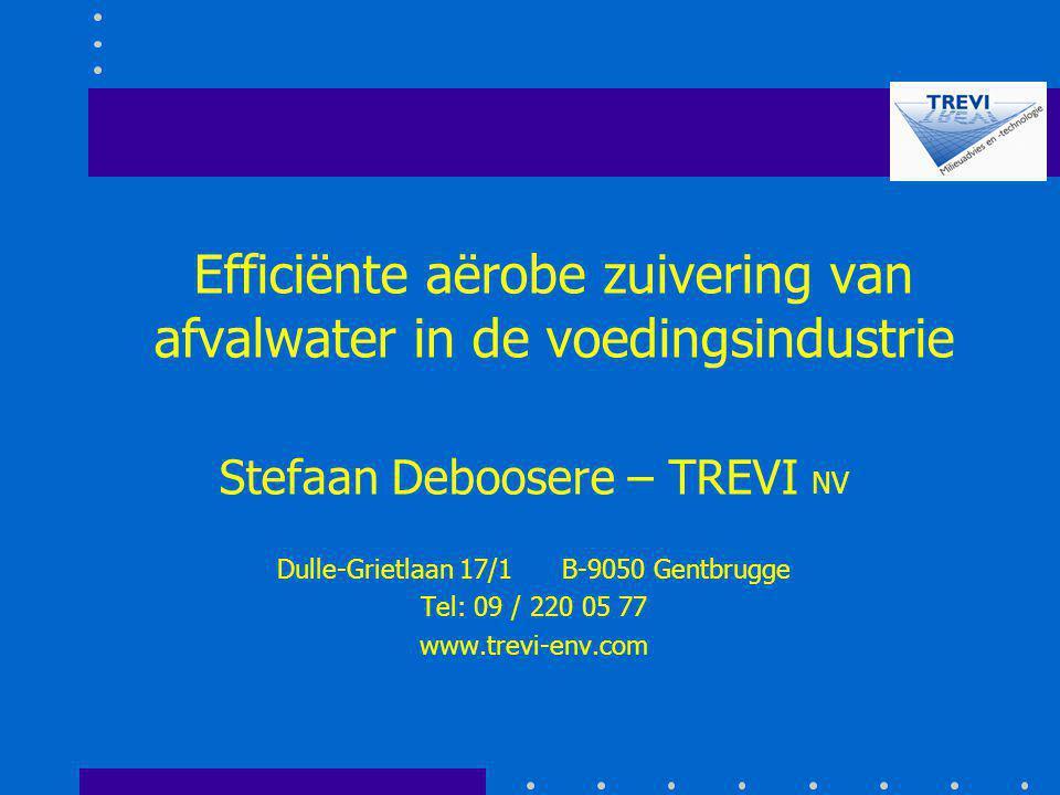 Efficiënte aërobe zuivering van afvalwater in de voedingsindustrie