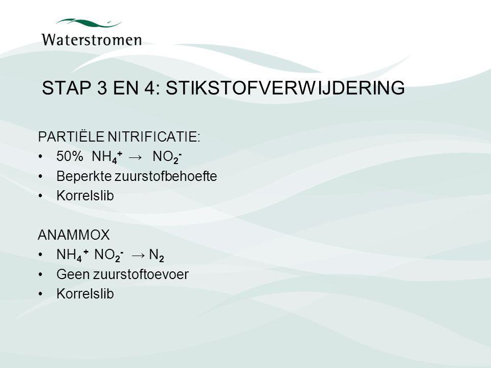 STAP 3 EN 4: STIKSTOFVERWIJDERING