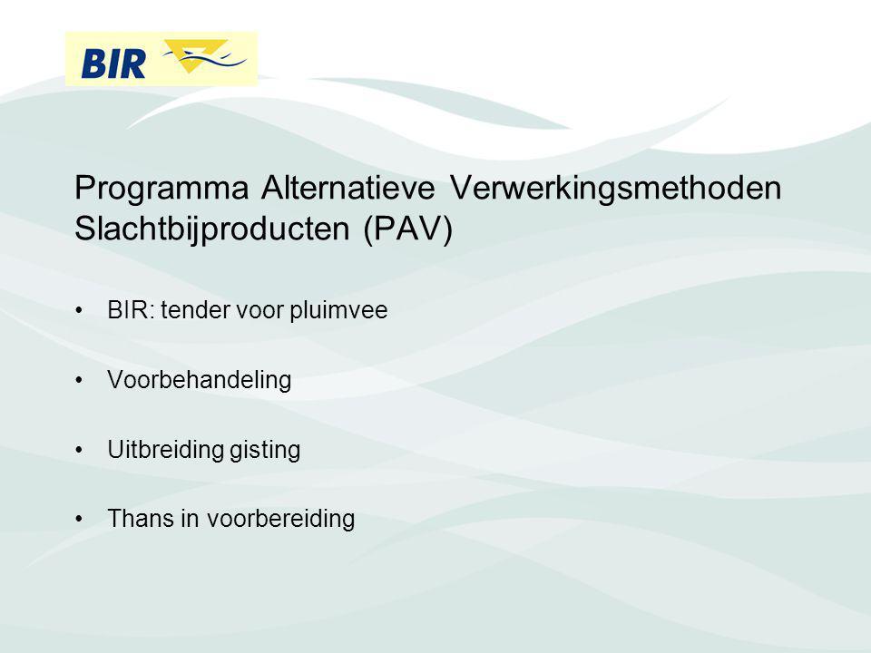 Programma Alternatieve Verwerkingsmethoden Slachtbijproducten (PAV)
