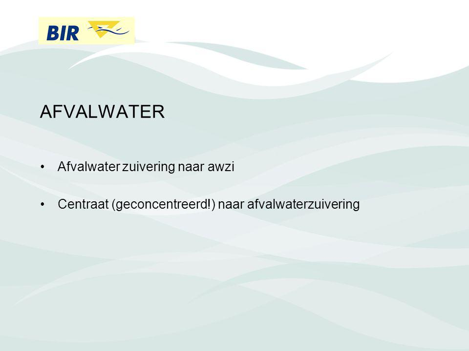 AFVALWATER Afvalwater zuivering naar awzi