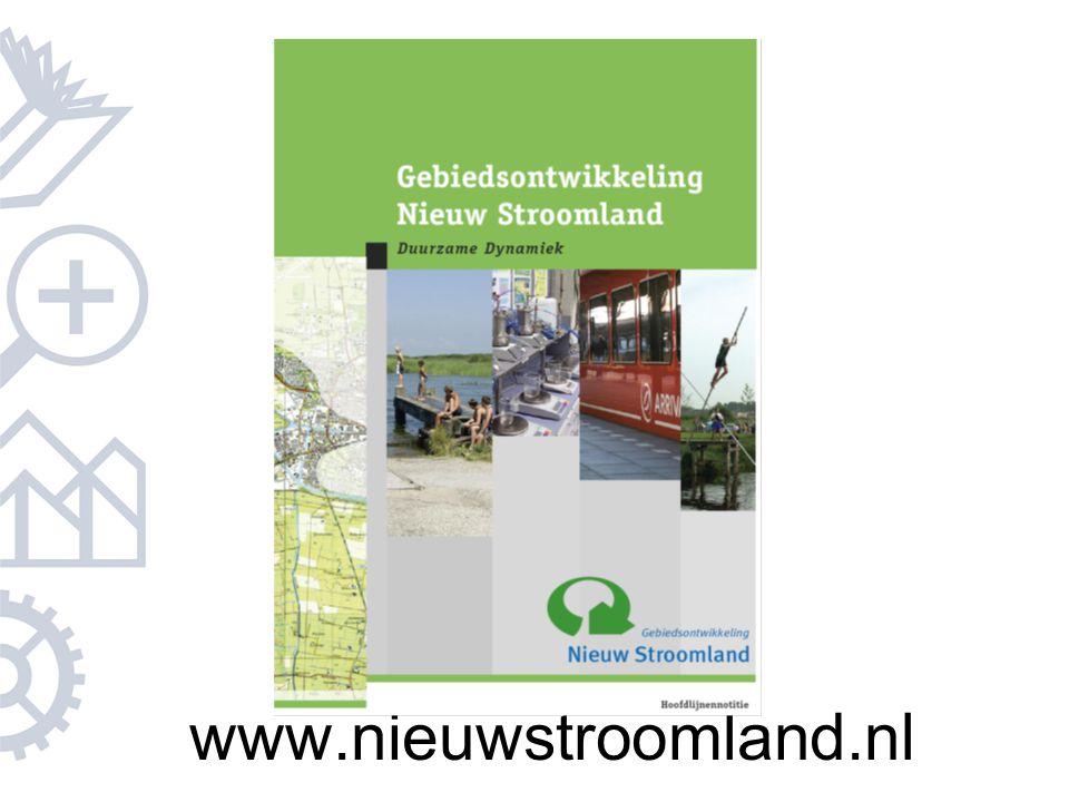 De stuurgroep heeft vorig jaar de hoofdlijnennotitie opgesteld, waarin de uitgangspunten van het project Nieuw Stroomland zijn verwoord
