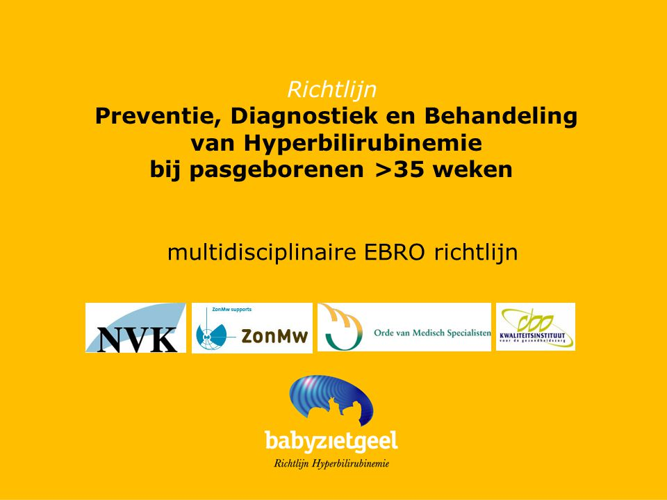 Preventie, Diagnostiek en Behandeling van Hyperbilirubinemie