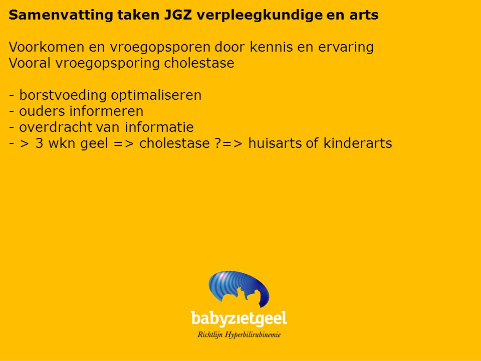 Samenvatting taken JGZ verpleegkundige en arts