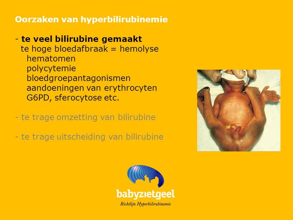Oorzaken van hyperbilirubinemie