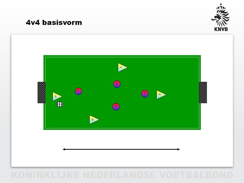 4v4 basisvorm Basisvormen