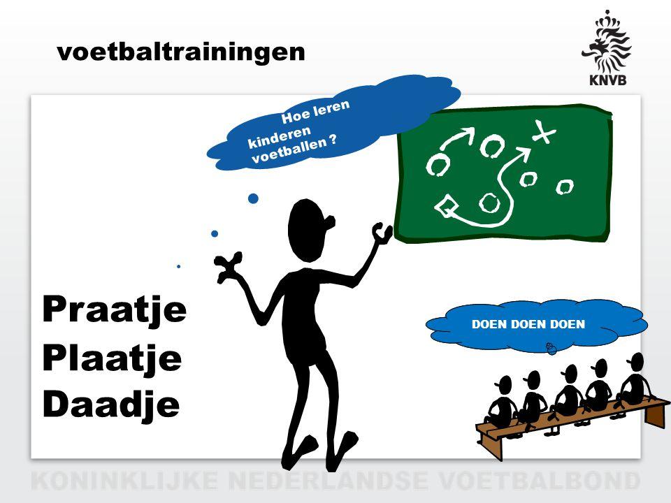 Praatje Plaatje Daadje voetbaltrainingen