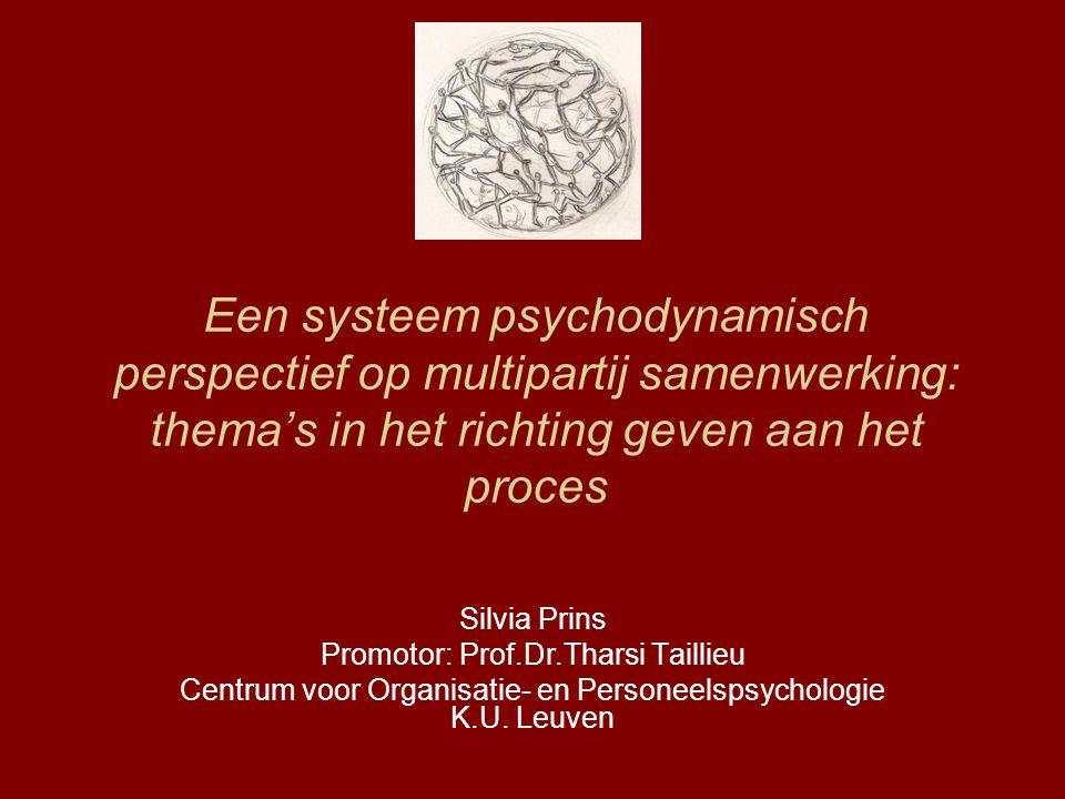 Een systeem psychodynamisch perspectief op multipartij samenwerking: thema's in het richting geven aan het proces
