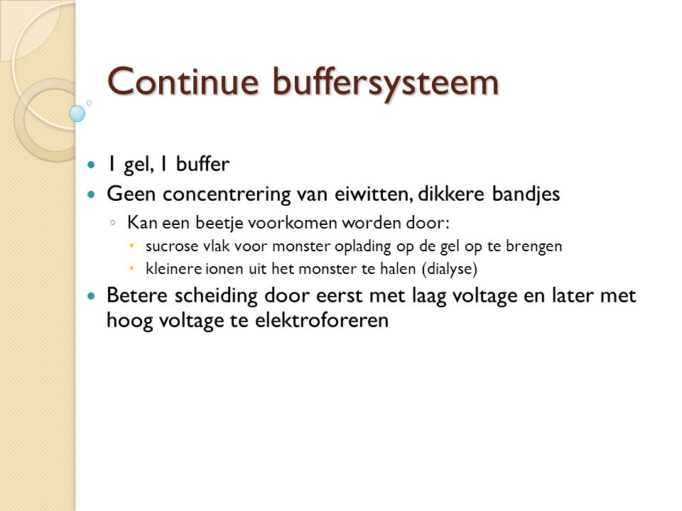 Continue buffersysteem