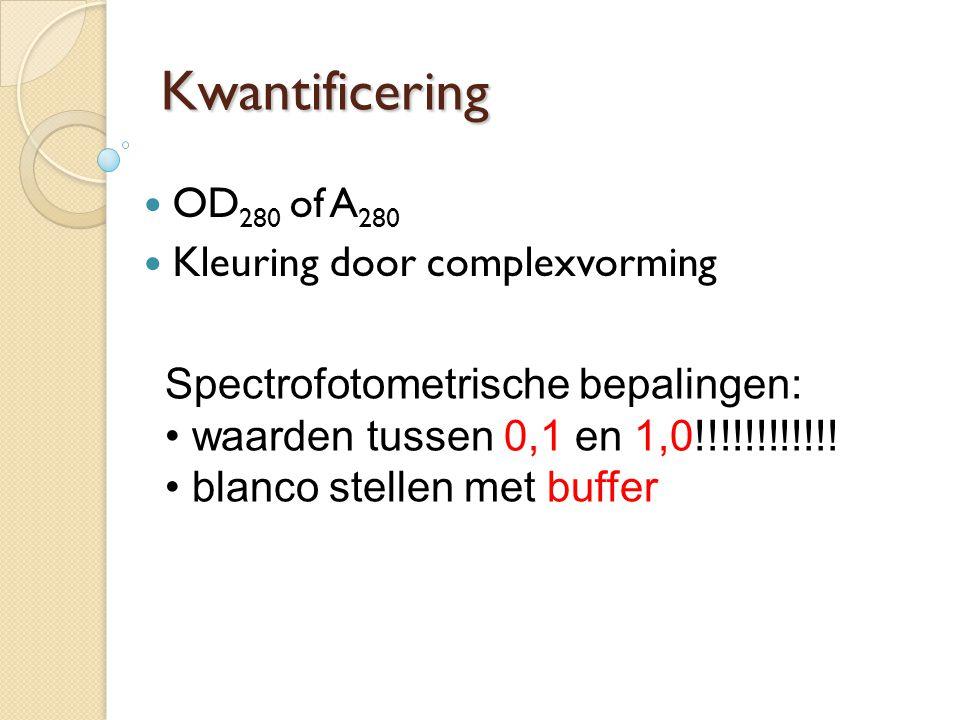 Kwantificering OD280 of A280 Kleuring door complexvorming