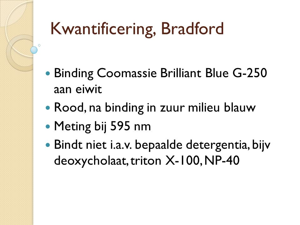 Kwantificering, Bradford