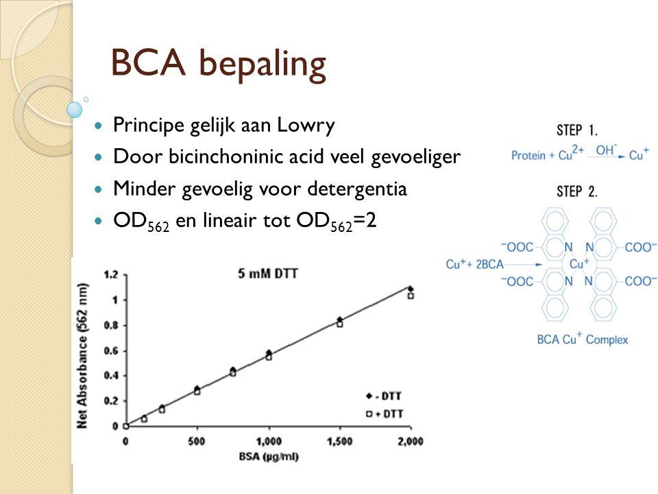 BCA bepaling Principe gelijk aan Lowry