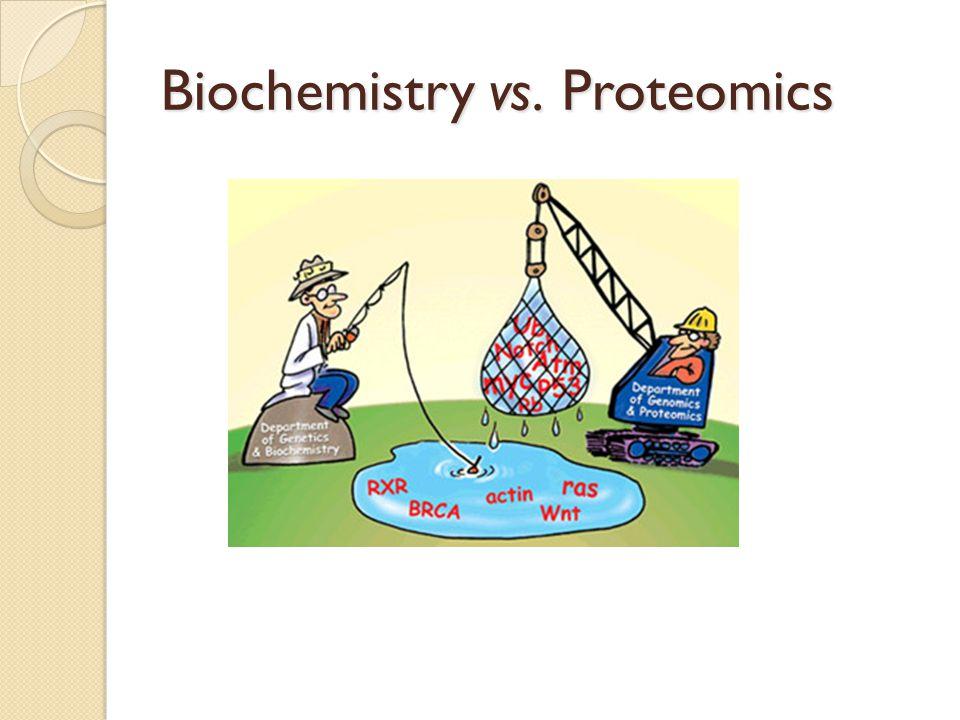 Biochemistry vs. Proteomics